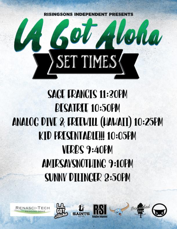 Tomorrow Nights Schedule