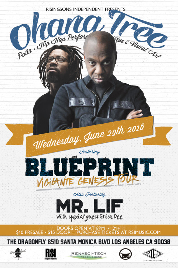 Blueprint Set To Headline Ohana Tree along with Mr. Lif On The Same Lineup!