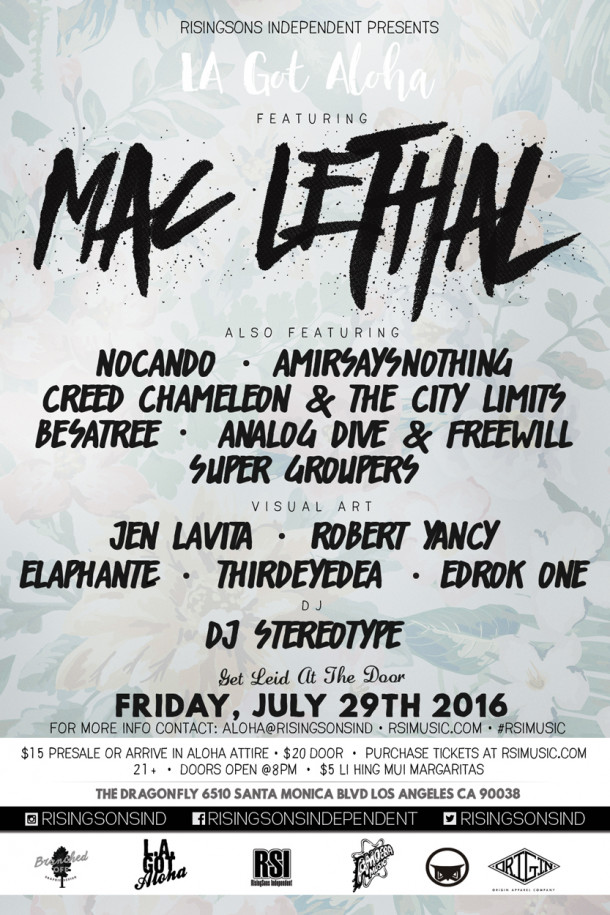 LA Got Aloha Lineup, July 29th