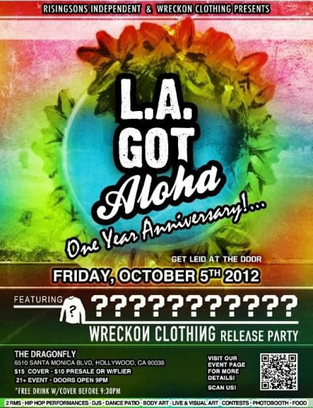 LA GOT ALOHA's 1 year Anniversary (ticket sale info) • 10/5/12