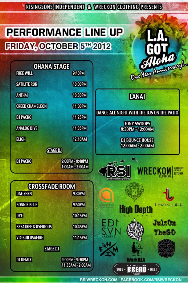 LA Got Aloha's 1 Year Anniversary • Public Line Up