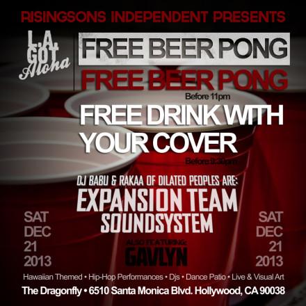 Tonight • LA Got Aloha • Free Drinks • Line Up/Schedule