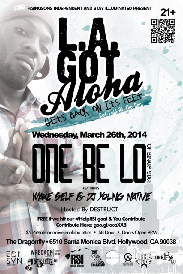 One Be Lo Of Binary Star Headlines The First LA Got Aloha Of 2014