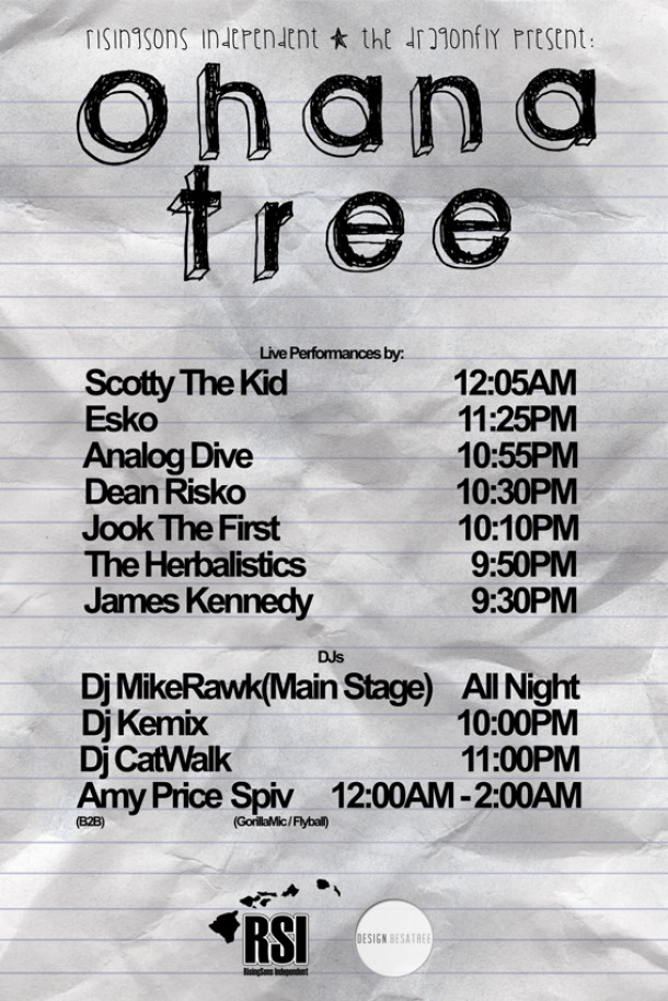 Ohana Tree's Schedule, May 23rd 2013