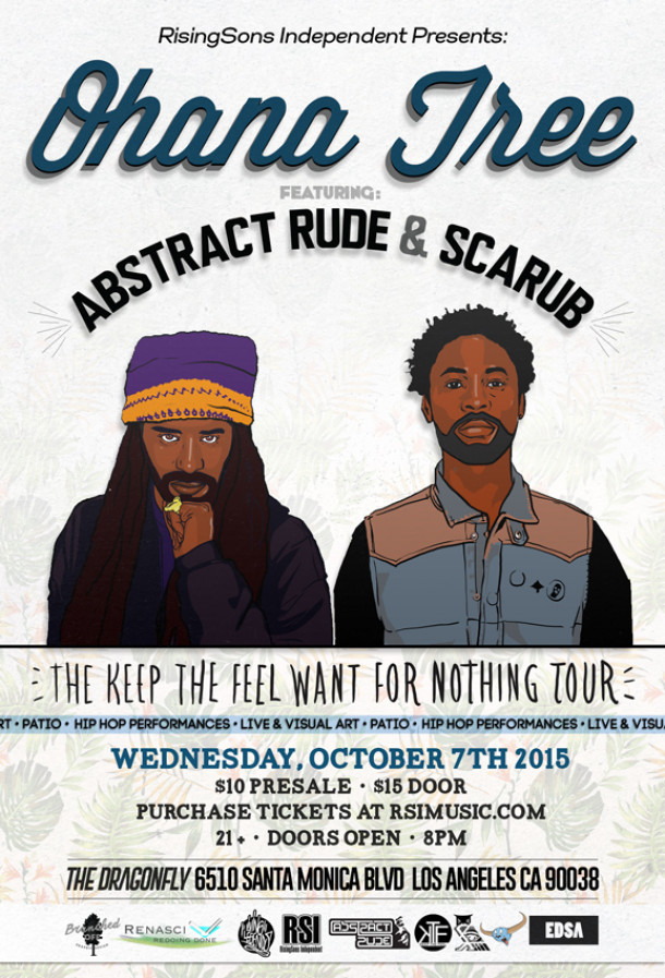 Abstract Rude & Scarub To Headline Ohana Tree, October 7th
