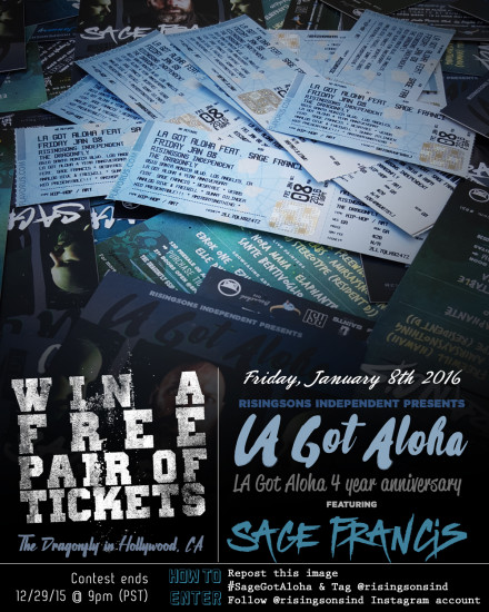 Win Free Tickets To See Sage Francis!!!