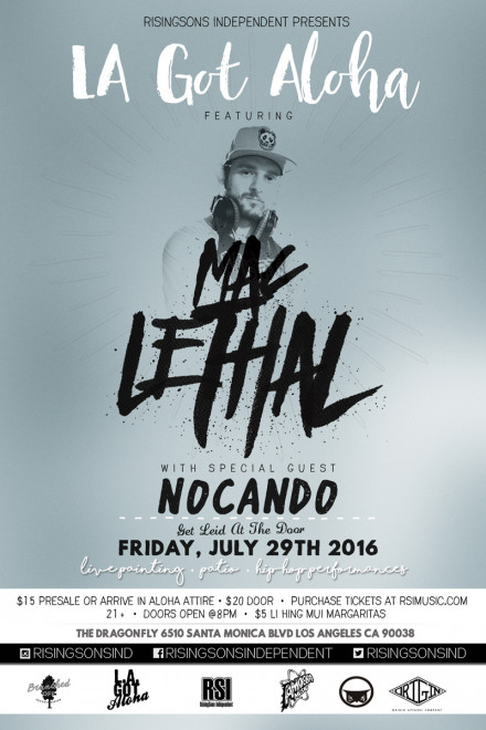 Mac Lethal to headline LA Got Aloha on July 29th, 2016