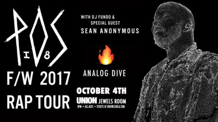 Analog Dive Opens for P.O.S Tonight!